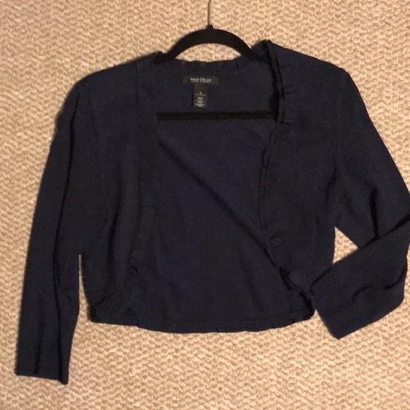 White House Black Market Sweaters - White House Black Market navy crop sweater